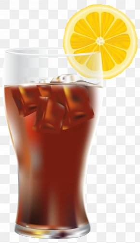 Cola With Ice And Lemon Transparent Clip Art Image - Coca-Cola Soft Drink Diet Coke PNG