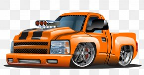 Hand-drawn Cartoon Cartoon Illustration Pickup Truck - Cartoon Hot Rod Stock Illustration PNG