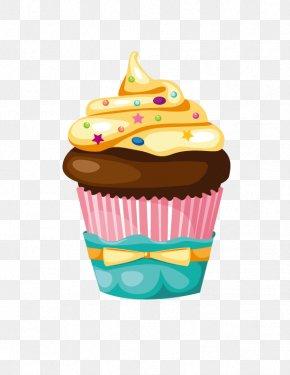Stars Cream Ice Cream - Cupcake Birthday Cake Muffin Icing PNG
