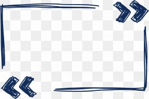 Hand Painted Blue Border - Euclidean Vector Download Pixel PNG