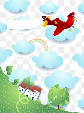Vector Sky - Airplane Stock Illustration Shutterstock PNG