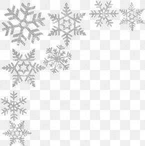 Snowflake - Clip Art Snowflake Borders And Frames Image PNG