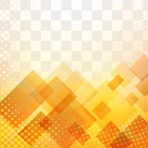 Decorative Orange Background - Orange PNG