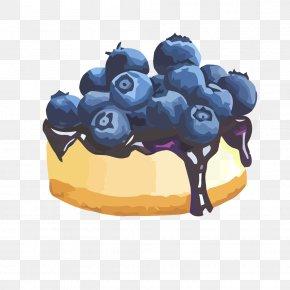 Blueberry Jam Cake Vector Material - Tart Fruit Preserves Blueberry Cake PNG