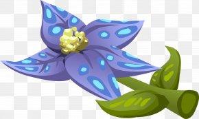 Blue Flower - Blue Flower Clip Art PNG