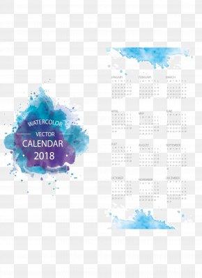 Vector Violet Blooming Calendar Template - Calendar Euclidean Vector Template PNG