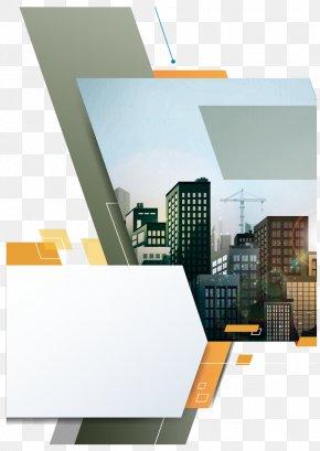 Vector Orange City Flyer Design - Flyer Brochure Page Layout Advertising PNG