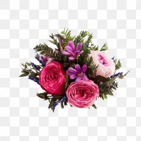 Rose Bouquet - Garden Roses Flower Bouquet Beach Rose Floral Design PNG