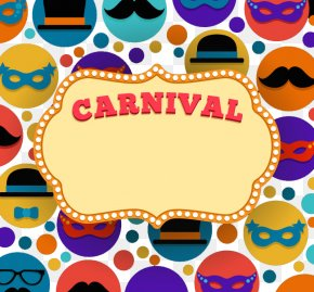 Carnival Text Background - Carnival Mask Clip Art PNG