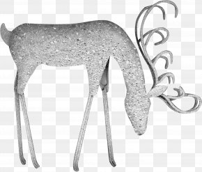 Creative Silver Deer - Reindeer Moose PNG