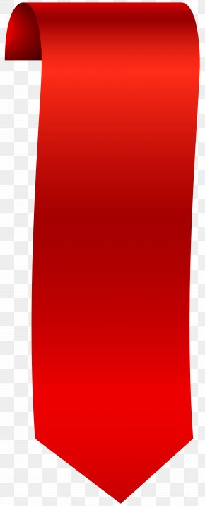 Vertical Banner Clip Art Image - Red Angle Font PNG