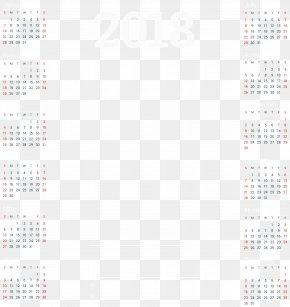 2018 Business Calendar Template Clip Art - Font Design Product Pattern PNG