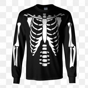 T-shirt - T-shirt Hoodie Top Clothing Human Skeleton PNG