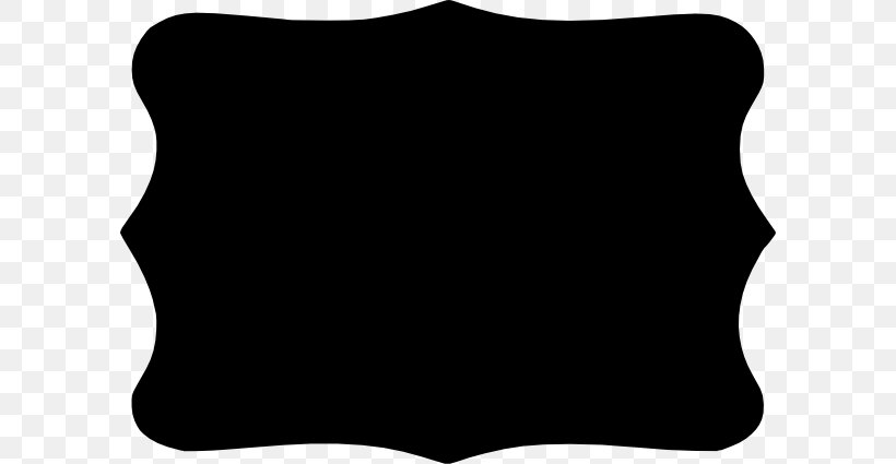 Borders And Frames Picture Frame Curve Quatrefoil Clip Art, PNG, 600x425px, Borders And Frames, Black, Black And White, Curve, Decorative Arts Download Free