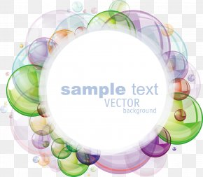Colorful Foam - Bubble Color Speech Balloon Clip Art PNG