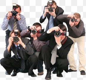 A Group Of Photographers - Photographer Stock Photography Paparazzi Celebrity PNG