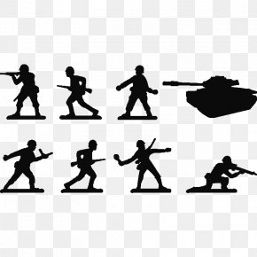 Toy Soldiers - Wall Decal Sticker Polyvinyl Chloride Silhouette PNG