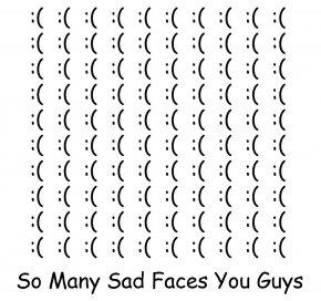 Sadfaces - Sad Comics Comic Sans Sadness Font PNG