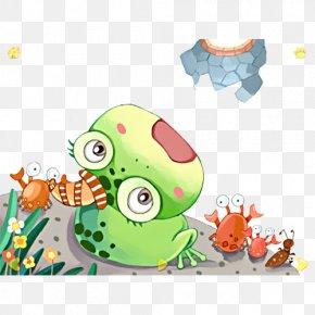 The Cartoon Illustration - Cartoon Frog Illustration PNG