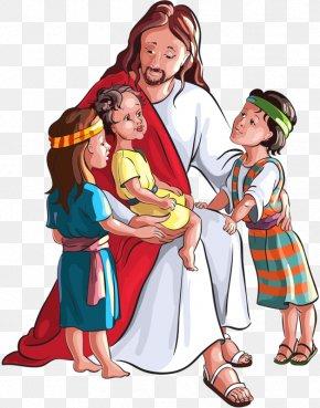 Embrace The Child Jesus - Child Bible Depiction Of Jesus Clip Art PNG