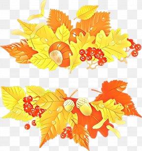 Flower Autumn - Orange PNG