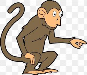 Funny Monkey Cliparts - Baby Monkeys The Evil Monkey Clip Art PNG