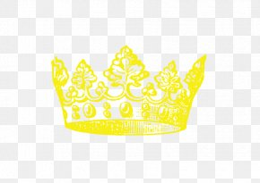 Vector Yellow Crown - Yellow Cup Baking Pattern PNG
