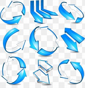Blue Arrow Stereoscopic 3D Vector Material - Arrow Euclidean Vector 3D Computer Graphics PNG
