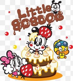 Vector Hand-drawn Birthday Cake - Birthday Cake Mashimaro Cartoon PNG
