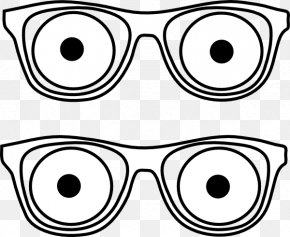 Eyes Outline Cliparts - Eye Glasses Clip Art PNG