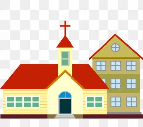 Hand-painted Church - Church Architecture Clip Art PNG