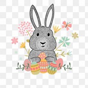 Vector Cute Bunny - Easter Bunny Euclidean Vector Hipster Clip Art PNG