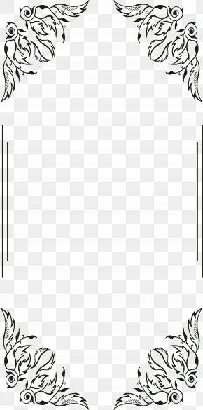 Black Line Frame - Download Black And White PNG