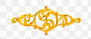 Circle Lace - Picture Frame Gold PNG