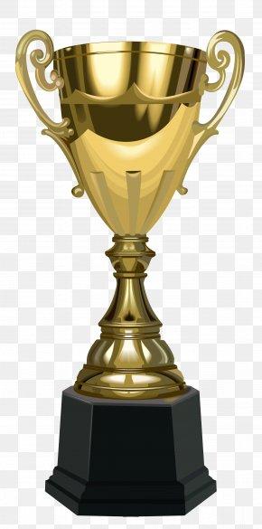 Trophy - Trophy Gold Medal Clip Art PNG