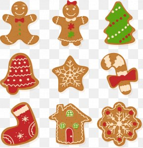 A Combination Of Holiday Cookies - Christmas Cookie Gingerbread Euclidean Vector PNG