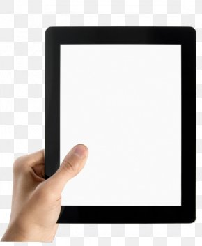 Holding A Tablet - Microsoft Tablet PC IPad Computer PNG