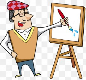 Painting - Vector Graphics Easel Artist Painting PNG