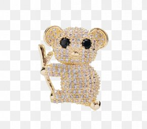 Koala Brooch - Koala Bear Icon PNG