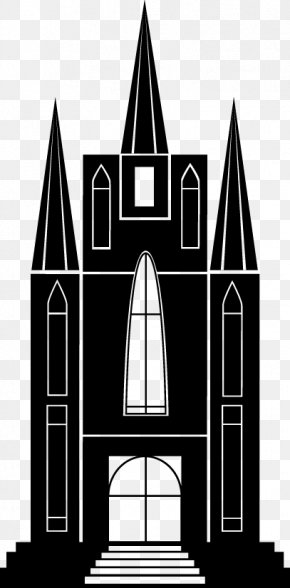 Catholic Church Silhouette Vector Material - Silhouette Architecture Download PNG