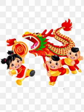 Chinese New Year - Dragon Dance Lion Dance Chinese New Year Image PNG