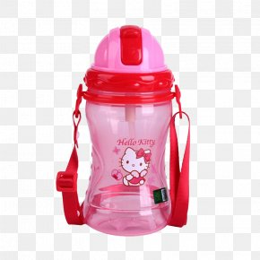 Pink Hello Kitty Kettle - Hello Kitty Water Bottle Cup Plastic PNG
