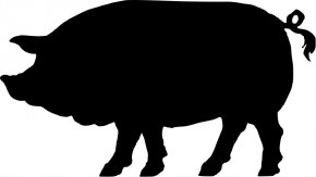 Pig Silhouette Images - Domestic Pig Silhouette Clip Art PNG