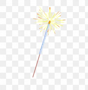Fireworks Stick - Yellow Material Wallpaper PNG