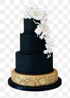 Chocolate Layer Cake Rose - Wedding Cake Icing Birthday Cake Black PNG
