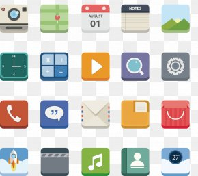 Vector Painted Phone APP Icon Collection - Icon Design Mobile App Icon PNG