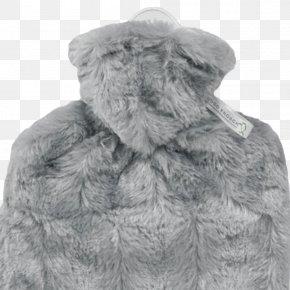 Plush Hot Water Bottle - Fake Fur Wool Hot Water Bottle Grey PNG