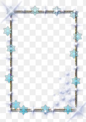 Blue Star Pattern - Picture Frame Pattern PNG