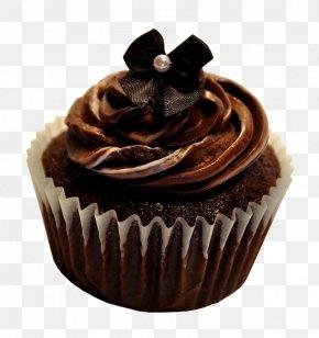 Chocolate Cake - Cupcake Chocolate Truffle Chocolate Cake Ganache Muffin PNG