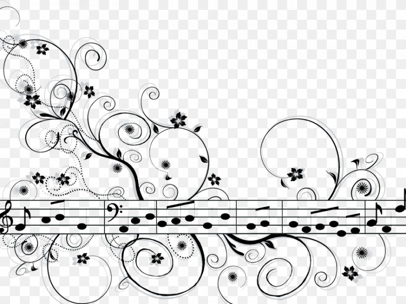 Musical Note Musical Theatre Drawing Staff, PNG, 882x663px, Watercolor, Cartoon, Flower, Frame, Heart Download Free